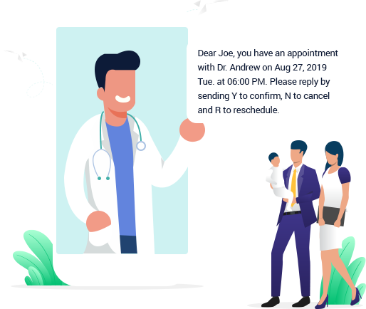 Use Reson8 with your medical applications for customer appointment bookings and reminders