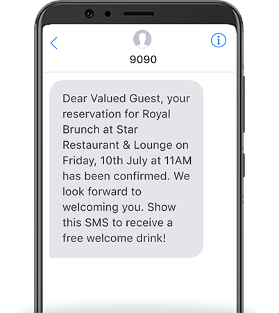 Enhance efficiency for your business and guests when using SMS communications in the Hospitality Industry