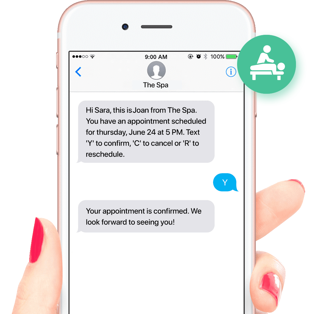 Reduce no-shows with automated SMS appointment reminders